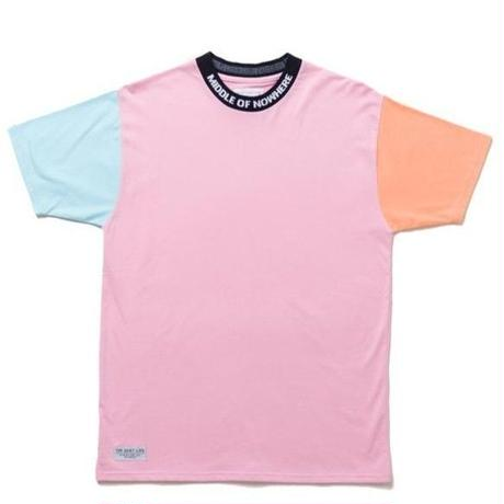 THE QUIET LIFE MIDDLE OF NOWHERE COLORBLOCKED TEE PINK