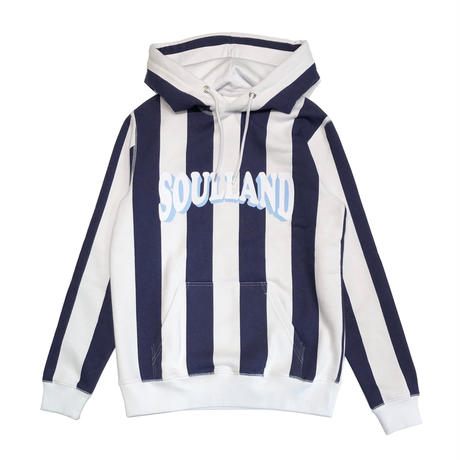 SOULLAND HOWARD HOODED SWEATSHIRT WHITE / NAVY