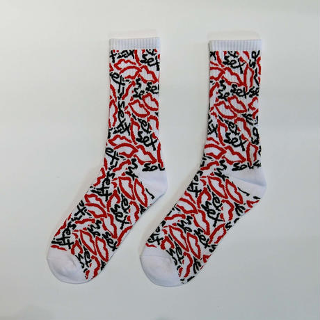 SEX SKATEBOARDS NEW SEX CAMO SOCKS WHITE