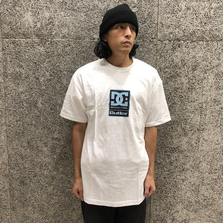 DC SHOES × BUTTERGOODS  BADGE TEE WHITE