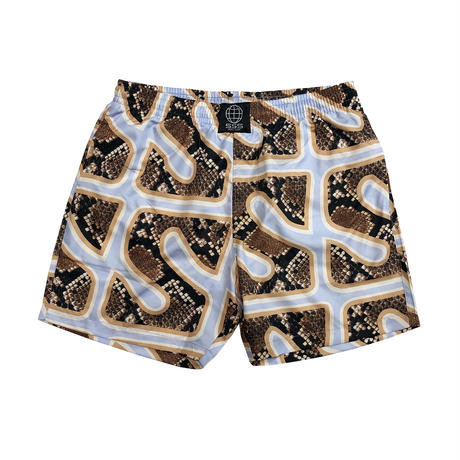 SSS WORLD CORP SNAKE PRINT QUICK DRY SWIM SHORTS