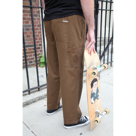 THEORIES STAMP LOUNGE PANT BURNT OLIVE
