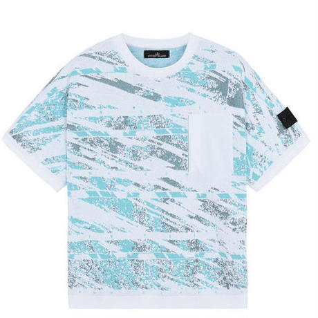STONE ISLAND SHADOW PROJECT 502A3 GRAPHIC SHORT SLEEVE KNIT WHITE