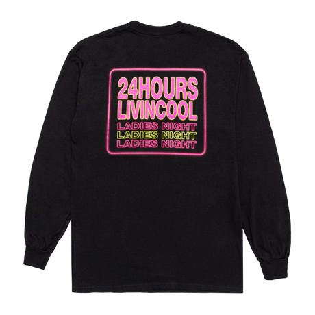 LIVINCOOL  LADIES NIGHT LONG SLEEVE T-SHIRT BLACK