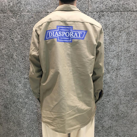 DIASPORA SKATEBOARDS  CHEVY LS WORK SHIRT KHAKI