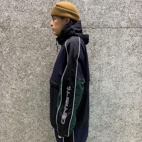 CARHARTT WIP TERRACE PULLOVER NAVY/BLACK/GREEN