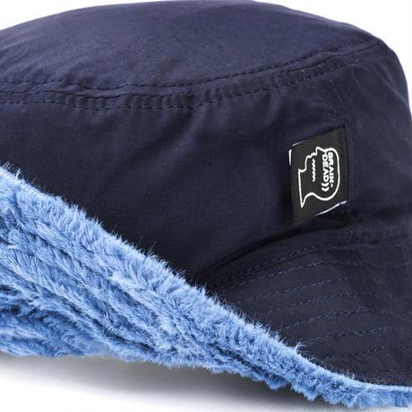 BRAIN DEAD REVERSIBLE SUNFLOWER BUCKET HAT - BLUE