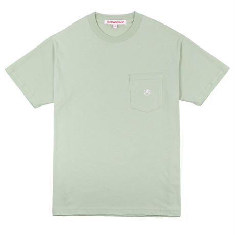 RICHARDSON  POCKET GLYPH T-SHIRT  LIGTH GREEN