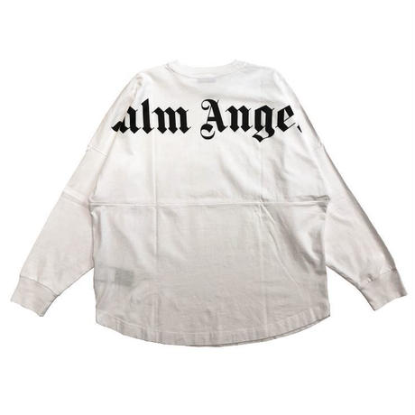 PALM  ANGELS  LOGO OVER LS  TEE WHITE