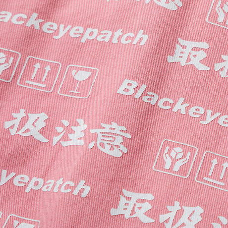 BLACK EYE PATCH HANDLE WITH CARE JACKET PINK
