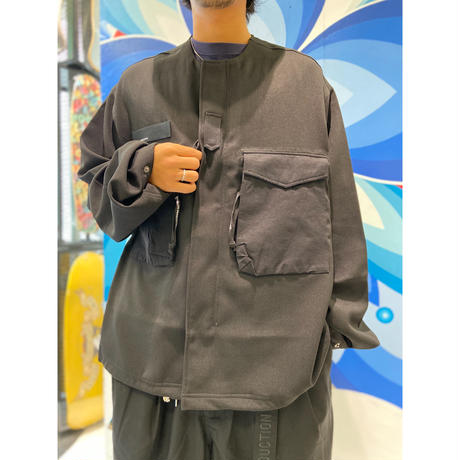 TIGHTBOOTH COLLARLESS FIELD JKT BLACK