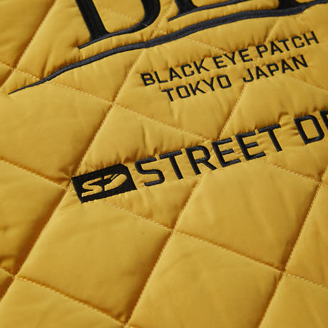 BLACK EYE PATCH STREET DREAM QUILTING VEST MUSTARD