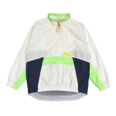 P.A.M  FOLDS TRACK PULLOVER WHITE/NAVY/GREEN