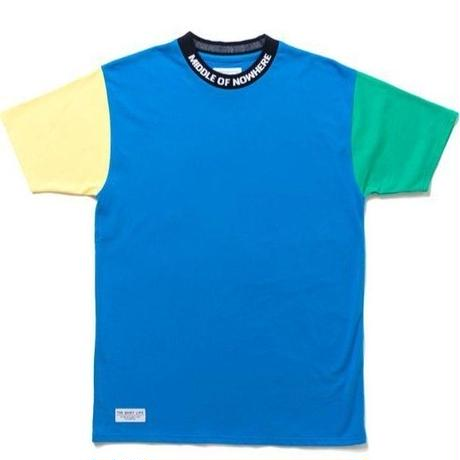 THE QUIET LIFE MIDDLE OF NOWHERE COLORBLOCKED TEE BLUE