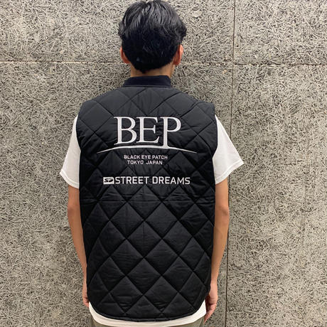 BLACK EYE PATCH STREET DREAM QUILTING VEST BLACK