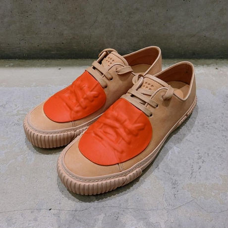 BOTH PARIS Rubber Patch Low-top With Graphic Foxing  NUDE/ORG