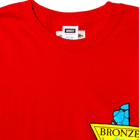 MN07 × BRONZE AGE CONCRETE LS TEE RED
