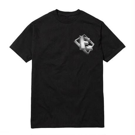 ERASED CHROME E TEE BLACK
