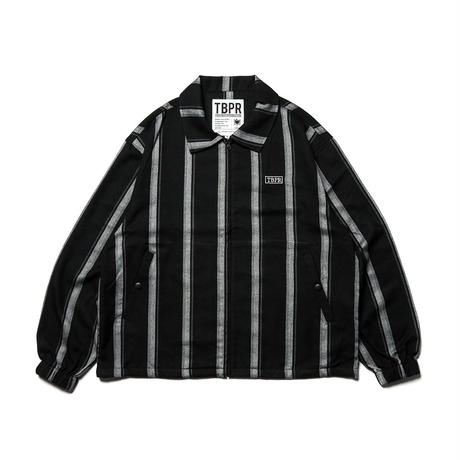 TIGHTBOOTH CHECK FULL ZIP SHIRT  BLACK STRIPE