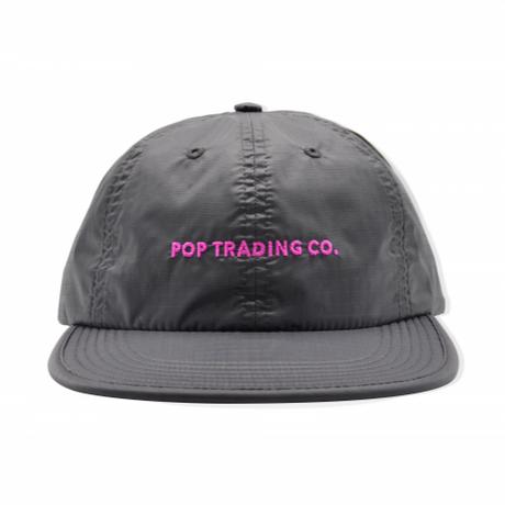 POP TRADING COMPANY  FLEXFOAM 6 PANEL HAT ANTHRACITE/PINK
