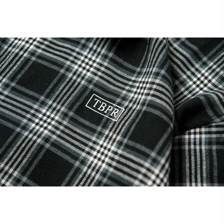 TIGHTBOOTH CHECK FULL ZIP SHIRT  BLACK CHECK
