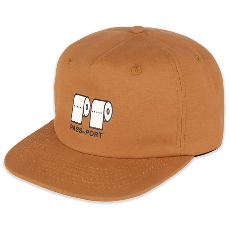 PASS~PORT  POO POO 5 PANEL CAP BROWN