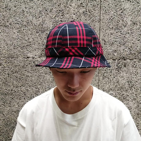 POP TRADING COMPANY  BELL HAT RED/NAVY PLAID