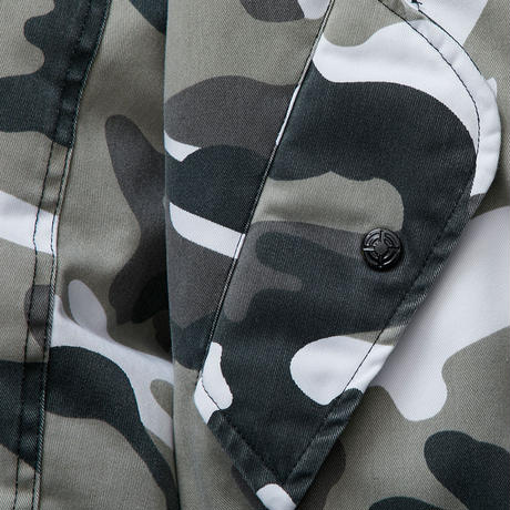BLACK EYE PATCH DAMAGED BOMBER JACKET CITY CAMO
