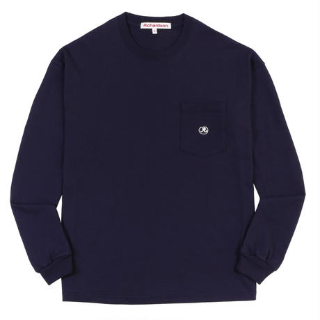 RICHARDSON  POCKET GLYPH LONGSLEEVE TEE NAVY