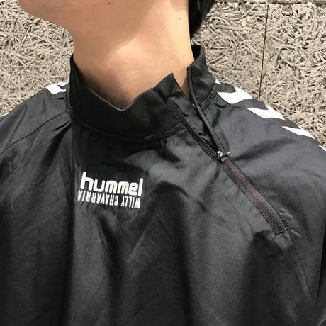 WILLY CHAVARRIA × HUMMEL ZIP NECK WINDREAKER BLACK