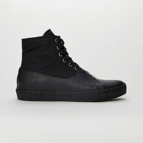 BOTH PARIS Galosh High-top With Graphic Foxing BLACK