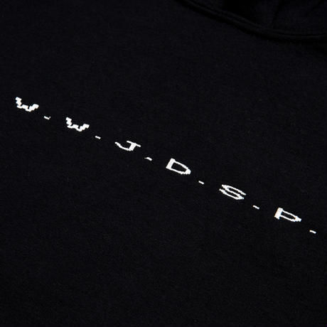 DIASPORA SKATEBOARDS W.W.J.D.S.P HOODED SWEAT BLACK