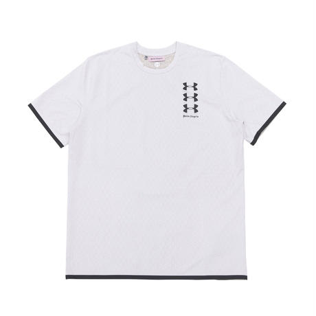 PALM  ANGELS  × UNDER ARMOUR BASIC TEE WHITE