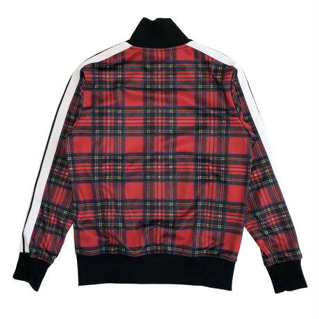 PALM  ANGELS  TARTAN TRACK JACKET RED