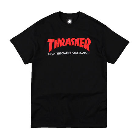 THRASHER TWO TONE SKATE MAG T-SHIRTS BLACK