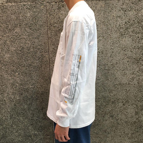 PARK DELICATESSEN CHECK LIST LONG SLEEVE TEE WHITE