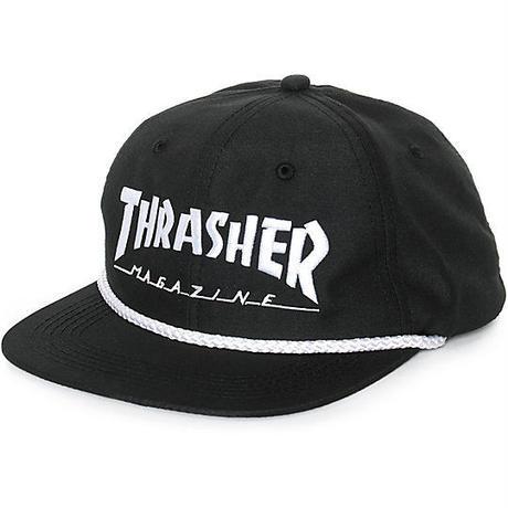 THRASHER ROPE CAP BLACK
