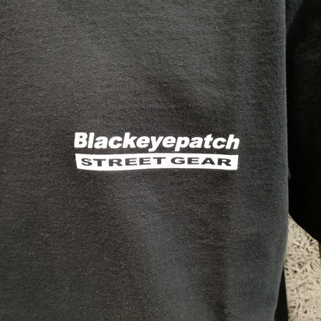 BLACK EYE PATCH HANDLE WITH CARE S/S TEE  BLACK