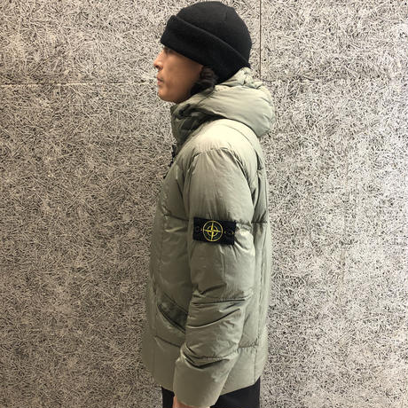 STONE ISLAND   40223 GARMENT DYED CRINKLE REPS NY DOWN OLIVE