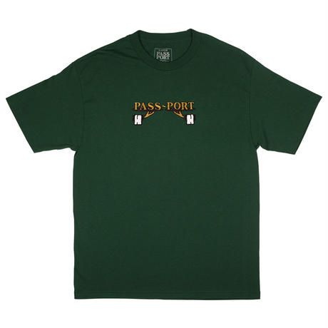 PASS~PORT  WAITER EMBROIDERED TEE GREEN
