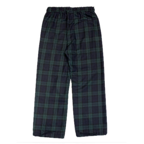 HUMAN RESISTANCE TARTAN TROUSER PANTS GREEN / BLACK