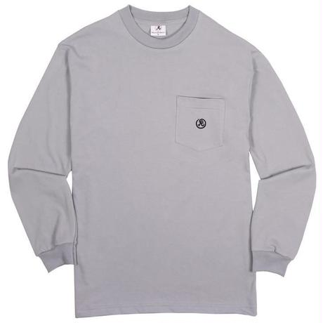 RICHARDSON  POCKET GLYPH LONGSLEEVE TEE BLUE-GREY
