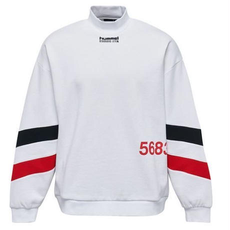 WILLY CHAVARRIA × HUMMEL MOCK NECK SWEATSHIRT  WHITE