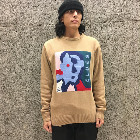 BY PARRA CLUES KNITTED PULLOVER CAMEL