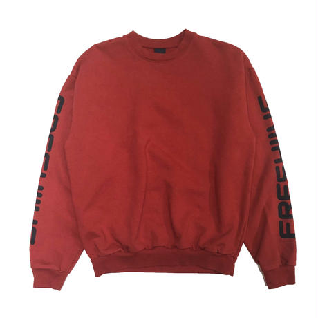 FRESH JIVE COURT SPONSOR CREWNECK SWEATSHIRTS RED