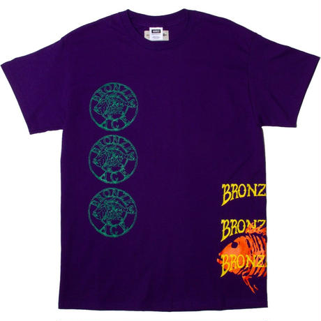 MN07 × BRONZE AGE TEST PRINT TEE  PURPLE