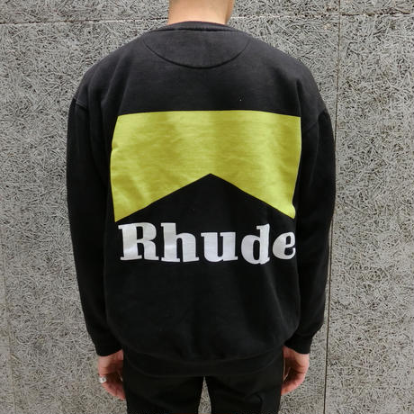 RHUDE   CIGARETTE  CREW  BLACK