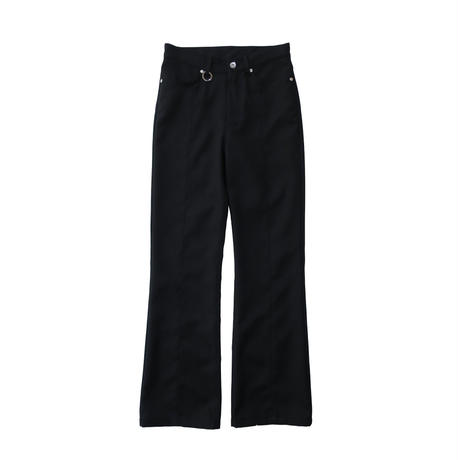 2 PANEL BOOT CUT PANTS  / BLACK