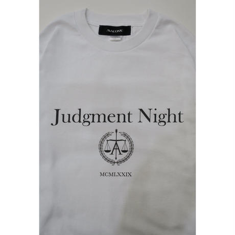 JUDGMENT NIGHT LONG SLEEVE  TEE / WHITE