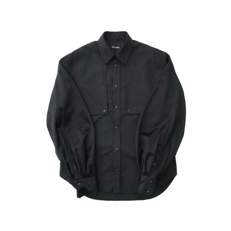 BALLOON SLEEVE SHIRT  /  BLACK×BLACK